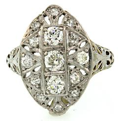 Vintage Style Diamond Band in 12K