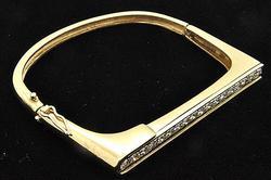 2+ctw Diamond Bangle Bracelet in 14kt Gold