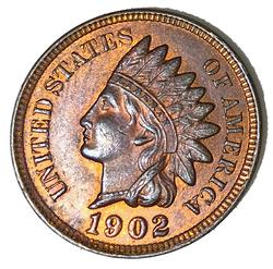 1902 Red Brown BU Indian Cent