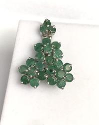 Sterling Silver and Emerald Pendant