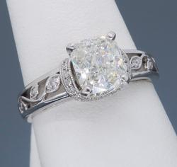 Certified Simon G Engagement Ring