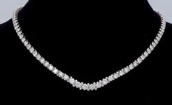 Superb 5+ctw Diamond Tennis Necklace in 14kt Gold