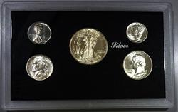 Lustrous Gem BU 1943 San Francisco Five Coin Mint Set!