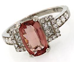 Fabulous Padparadscha Sapphire & Diamond Ring in 18K