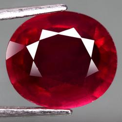 Incredible 5.49ct oval cut blood red Ruby