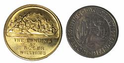 1936 S BU Rhode Island Comm Half and Medal