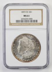 Stunning CC 1893-CC Morgan Silver Dollar - NGC MS61