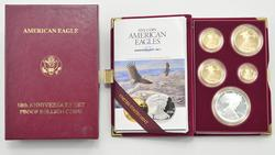 1995-W Gold/Silver 10th Anniversary Set w/ 95-W ASE