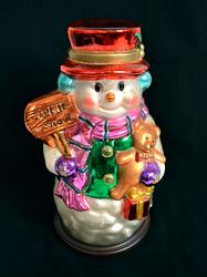 2003 Thomas Pacconi Holiday Glass Snowman Decoration