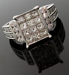 Eye Catching 2.50 CTW Multi Diamond Ring