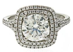 Spectacular2.0 CTW Diamond Double Halo Band in 18K