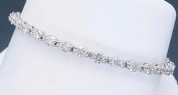 Stunning 18K White Gold 4.25CTW Diamond Bracelet
