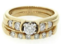 Yellow Gold Diamond Bridal Set