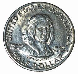 1934 Maryland Comm Half Dollar Glowing White BU