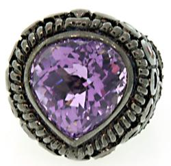Sterling Silver Hyge Gemstone Ring