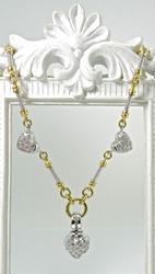 Contemporary 14K Diamond Heart Necklace