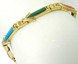 Colorful Multi-Stone 18K Bracelet