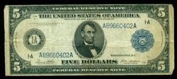 Series of 1914 Large Size $5 Federal Reserve Note