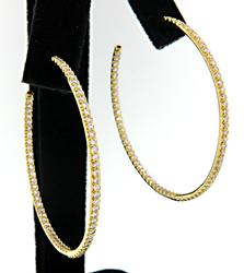 Roberto Coin  Diamond In & Out Hoops in 18K