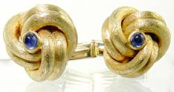 Exceptional Pair of Sapphire Knot Cufflinks
