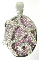 Wonderful Pink Sapphire and Diamond Necklace