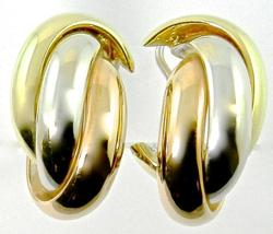 High End 18K Tri-Color Earrings