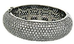 50.0 CTW White Sapphire Bracelet in Black Rhodium
