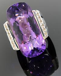 David Yurman Amethyst & Diamond Cocktail Ring