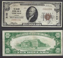 $10 1929 NBN Chicago IL. Charter 3102