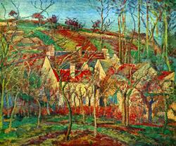 Pissaro - The Red Roofs  Color Giclee