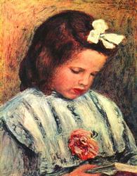 Renoir - 'Girl Reading' Color Giclee