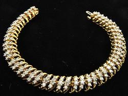 14kt Gold 4.50ctw Diamond Bracelet