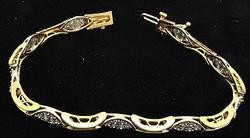 1+ctw Diamond Bracelet in 14kt Gold