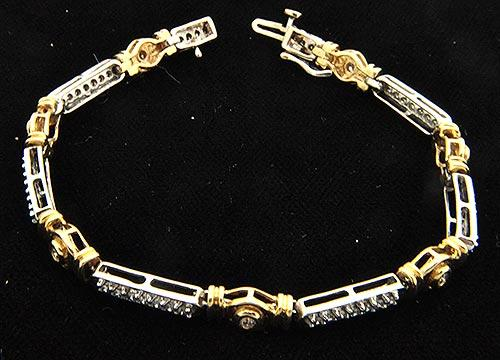 Two Tone 1+ctw Diamond Bracelet