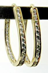 Popular Inside Out 14k CZ Hoops