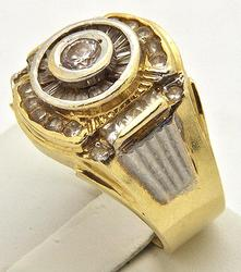 Tiered Designed Gents 2ctw CZ Ring