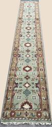 Very Rare Mint Green High Quality Handmade Sultan-Abad Runner