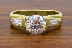 18K Yellow Gold 1.29CTW Diamond Engagement Ring