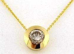 14kt Gold Diamond Solitaire Necklace