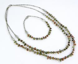 Sterling and Earthy Agates Necklace & Bracelet