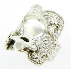 Vintage Ornate Sterling Saddle Ring