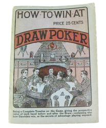 1909 How To Win At Draw Poker Antique Book
