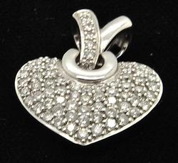 2ctw Diamond Heart Pendant in 18kt Gold