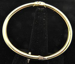 Bangle Bracelet with .50ctw of Pave Diamonds