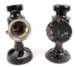 2 T.E. Bladon British Military Black Out Lamps