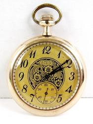 Antique 17J Elgin Gold Pocket Watch - Runs