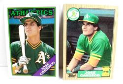 2 Jose Canseco, A's Baseball Cards