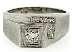 Gents Retro Diamond Band