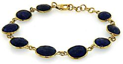 Sapphire and Sterling Bracelet