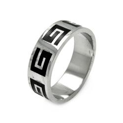 Mens Stainless Steel Jewelry Celtic Design Band Ring Width: 8Mm
